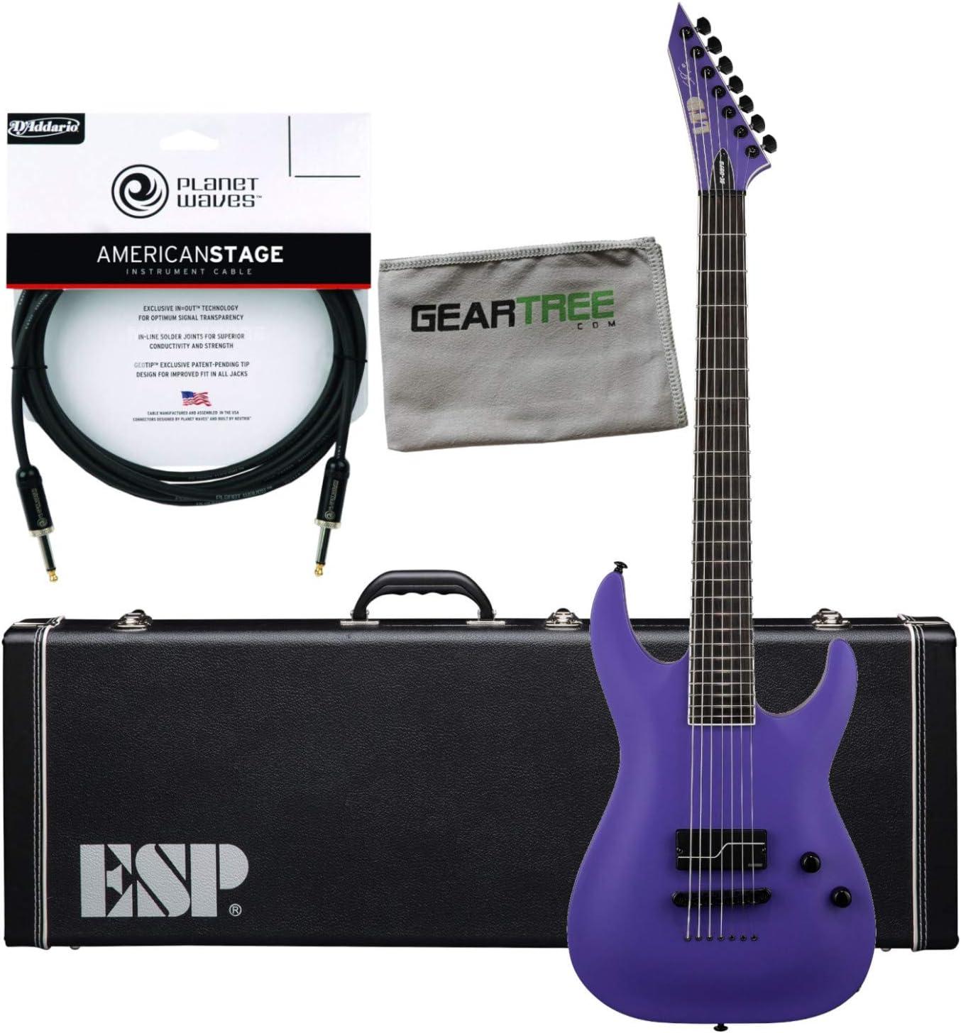 ESP LTD SC607B1H Baritone guitarra eléctrica (púrpura satinado), con estuche duro, Premiu: Amazon.es: Instrumentos musicales