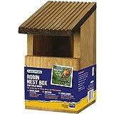 Wildbird bird box. Wooden Robin Nesting Box. Tree Mounted. Hanging.