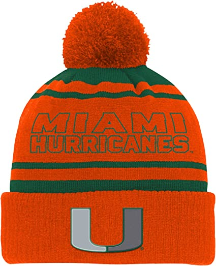 Outerstuff NCAA Teen-Boys Cuff Knit with Pom Hat