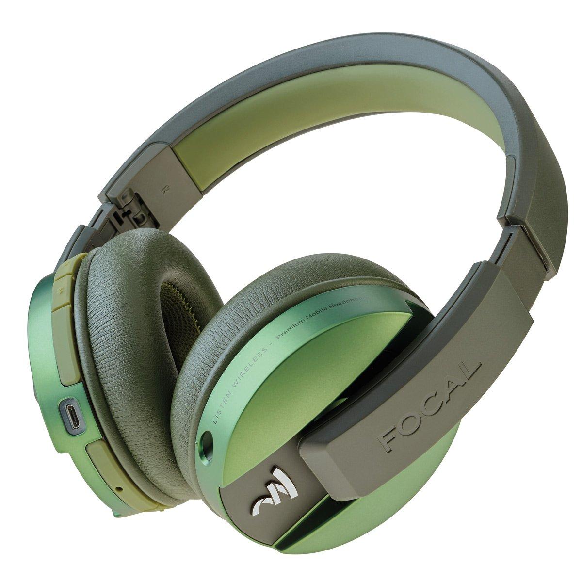 32c72c40670 Amazon.com: Focal Listen Wireless Over-Ear Headphones with Microphone  (Green): Home Audio & Theater