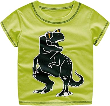 DIGOOD for 1-4 Years Old,Toddler Baby Boys Cartoon Dinosaur T-Shirt+Shorts,Children 2Pcs Stylish Outfits Clothes Sets