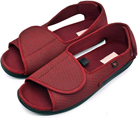 Lady/'s Women Flip Flop Leather Slippers Orthopedic Insole Shoes Sandals RED