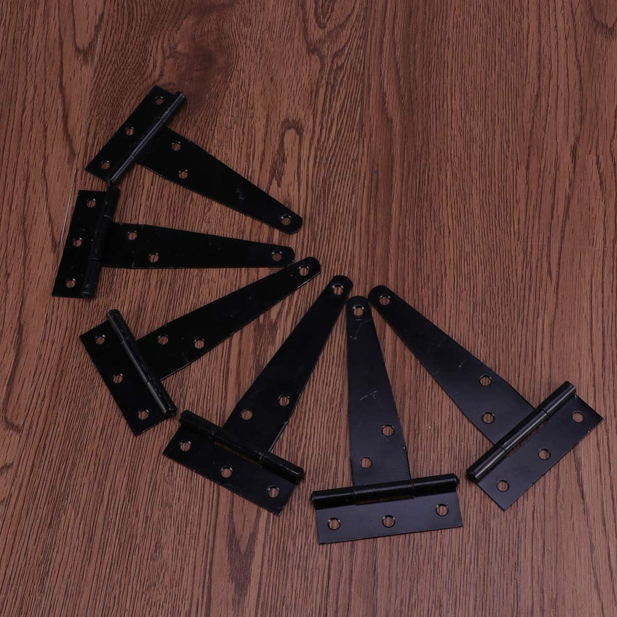 color negro 2 unidades Bisagras en T resistentes para puerta de cobertizo Yarnow