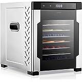 Electric Countertop Food Dehydrator Machine - 900-Watt Premium Multi-Tier Meat Beef Jerky Maker Fruit/Veggie Dryer w/ 10 Stai