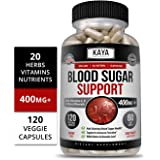 Kaya Naturals Blood Sugar Support Supplement, 120 Count Capsules, 20 Herbs, Alpha Lipoic Acid & Cinnamon (120 Capsules)