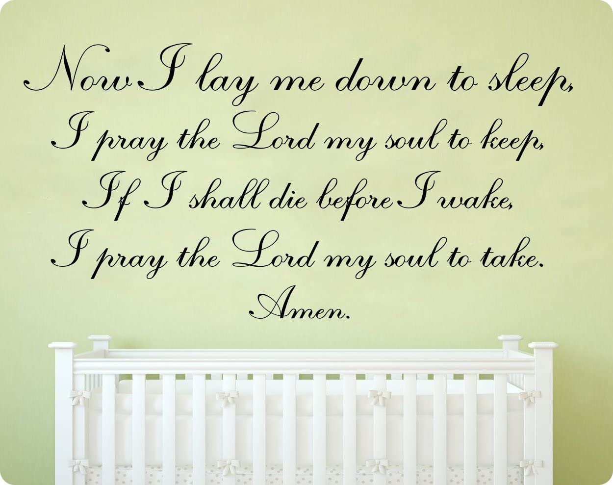Lord Pray Vinyl Decal Now I lay Me down to Sleep Child Bedtime Night Wall Quote