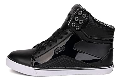 d37beeb584e4c PASTRY LADIES HIGH TOPS ANKLE TRAINERS BLACK (6)  Amazon.co.uk ...