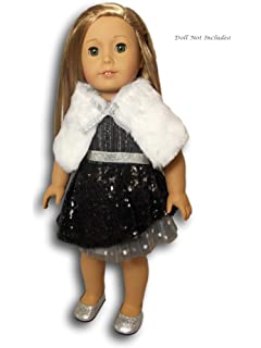 American Girl Silver Belle Outfit Party Fancy Dress Ballet Shoes For Doll Only