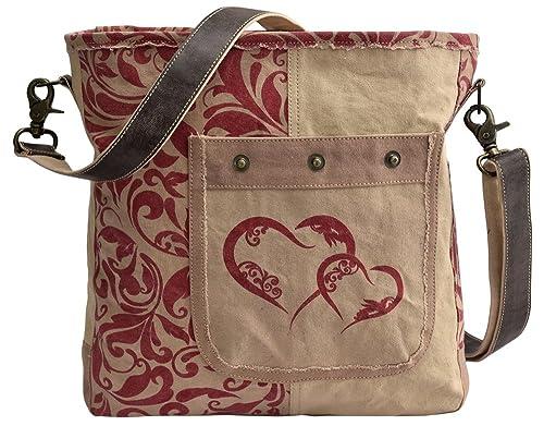 ebe0b88ec Domelo Borse da Donna Borse a tracolla Borsette in Canvas / Telo olona con  pelle: Amazon.it: Scarpe e borse