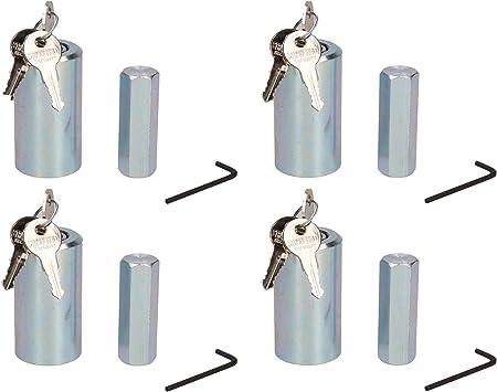 2 Pack Caravan Corner Steady Stabiliser Leg Nut Lock Insurance Approved