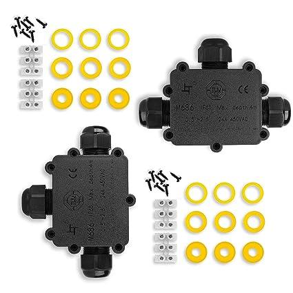 Caja de Conexiones, Eléctricos Exterior Conector Cable,IP68 Impermeable cajas de conexión de cables