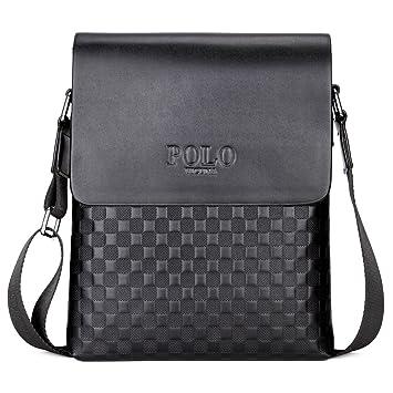 Amazon Com Vicuna Polo Business Man Bag Classic Plaid Design Men