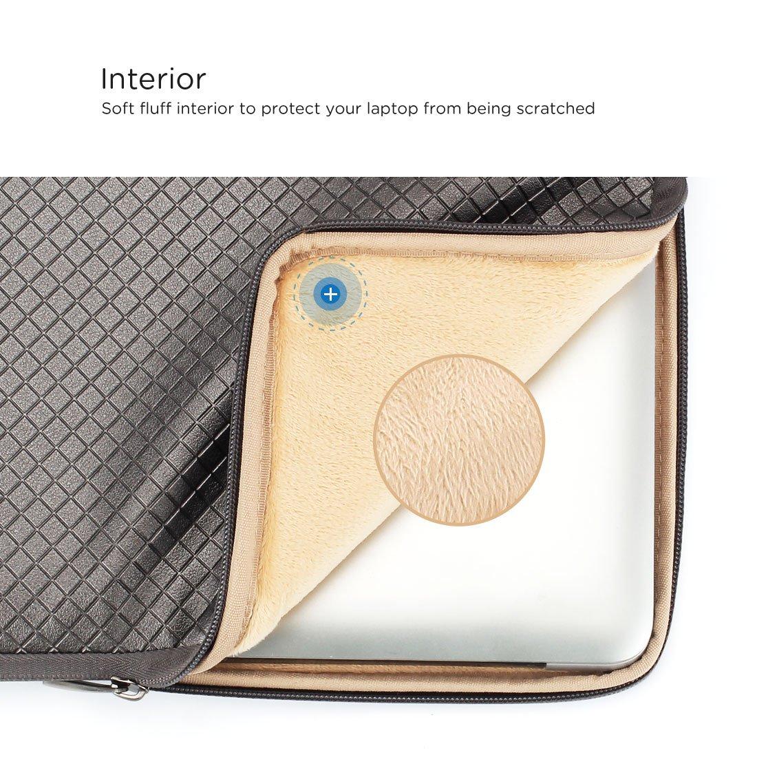 Noir Brillant DOMISO 10,1-10,5 Pouces Imperm/éable Housse de Protection Ordinateur Portable Pochette Sacoche pour Tablette//Netbook//9.7 iPad Pro//Samsung Galaxy Tab//Lenovo//HP//ASUS