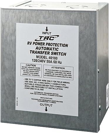 Amazon Com Technology Research 40100 50 Amp Surge Guard Automatic Transfer Switch Automotive
