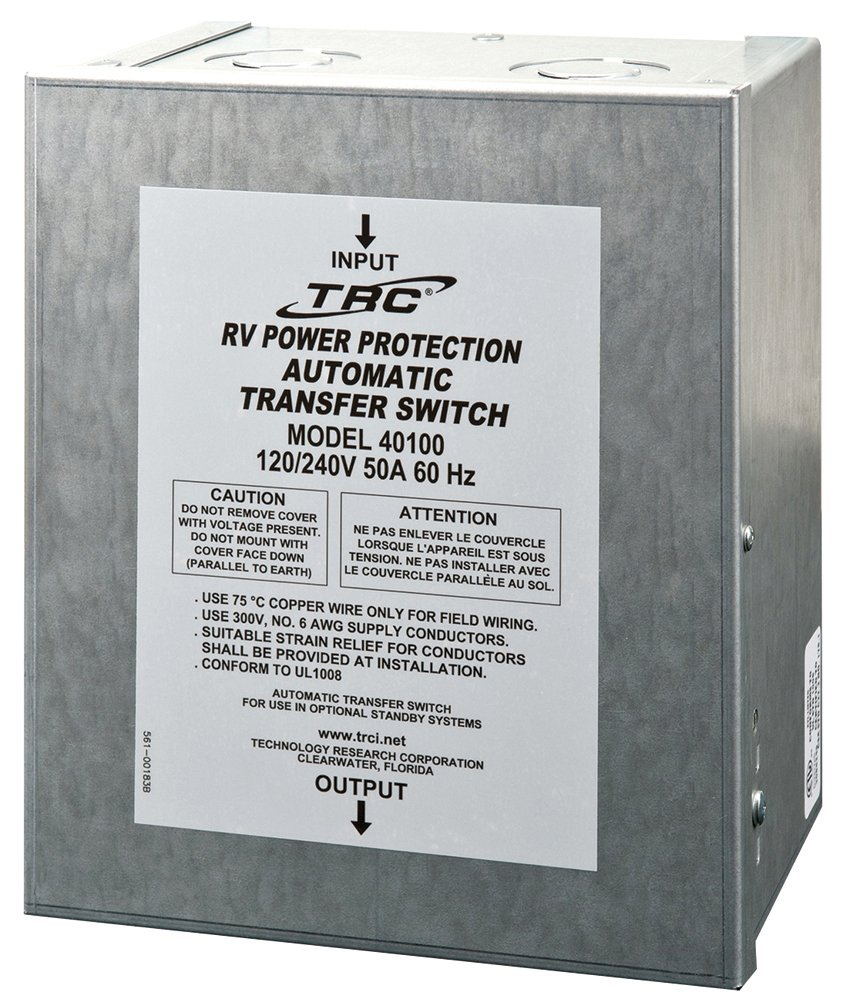 Technology Research (40100) 50 Amp Surge Guard Automatic Transfer Switch