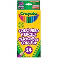 Crayola 24 Coloured Pencils, Adult Colouring Pencil Crayons, Bullet Journaling, School and Craft Supplies, Drawing Gift for Boys and Girls, Kids, Teens Ages 5, 6,7, 8 and Up, Back to school, School supplies, Arts and Crafts,  Gifting