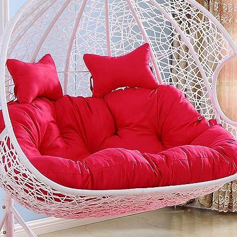 Amazon.com: Cojín para silla con forma de huevo de lino y ...