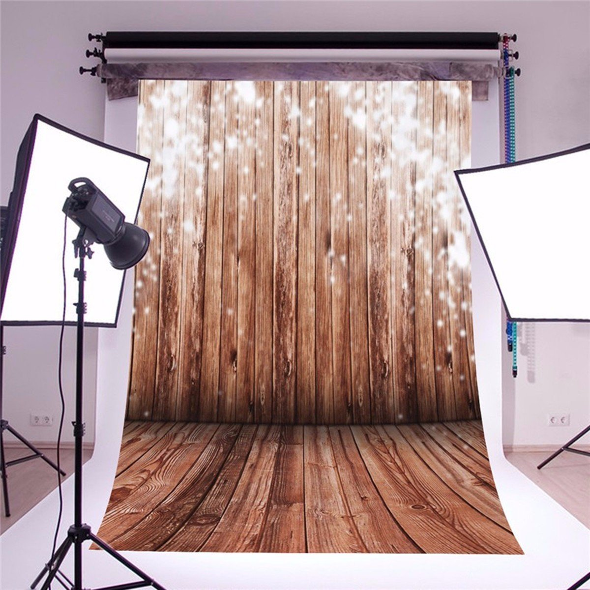 Amazon.com : Mohoo 5x7ft Silk Photography Background Nostalgia Wood Floor  Pattern Photography Collapsible Backdrop Studio Props (Updated Material) :  Camera ...
