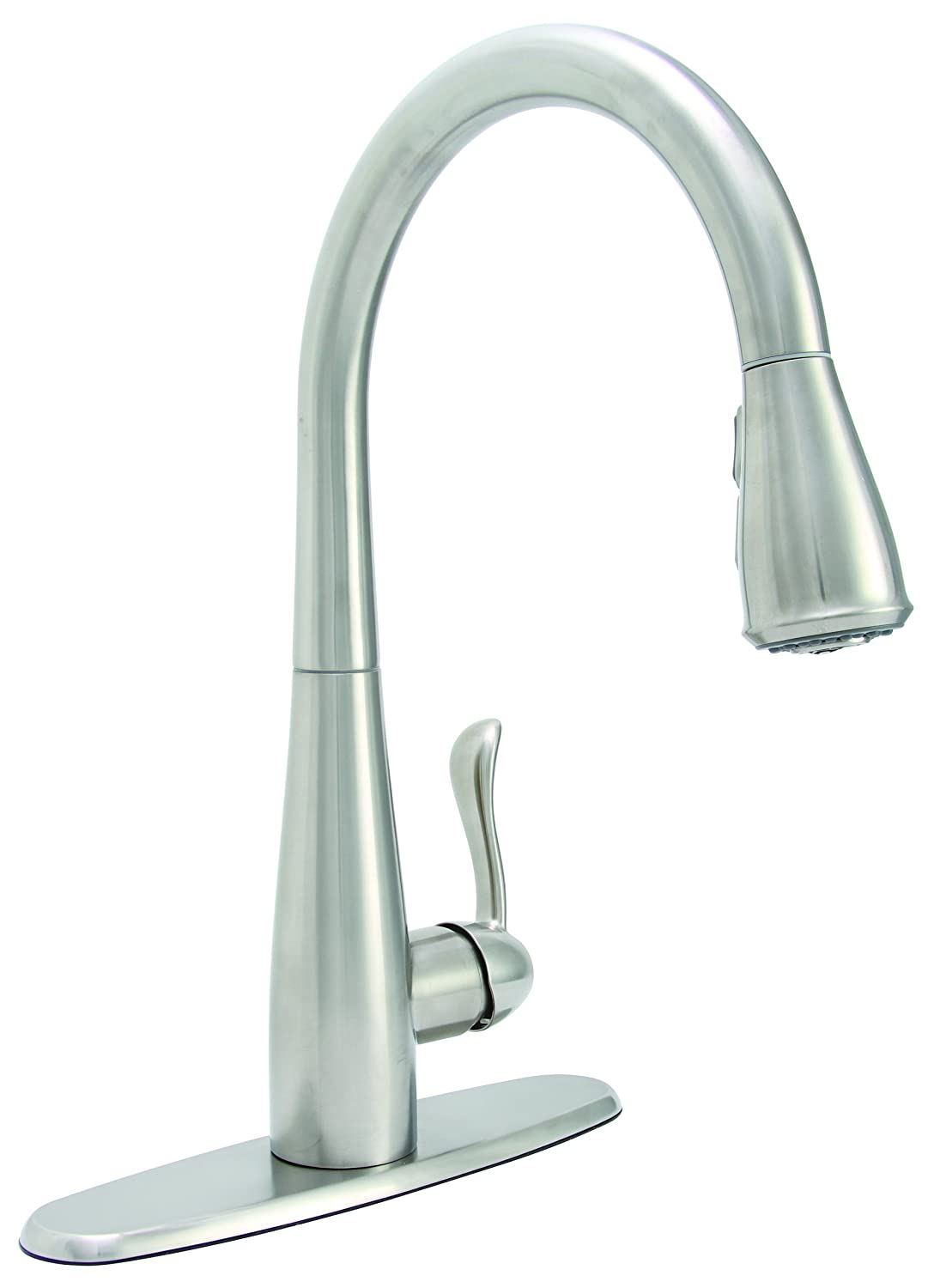 Marvelous Premier 284453 Sanibel Pull Down Kitchen Faucet With Single Handle,  Stainless Steel, Lead Free   Touch On Kitchen Sink Faucets   Amazon.com