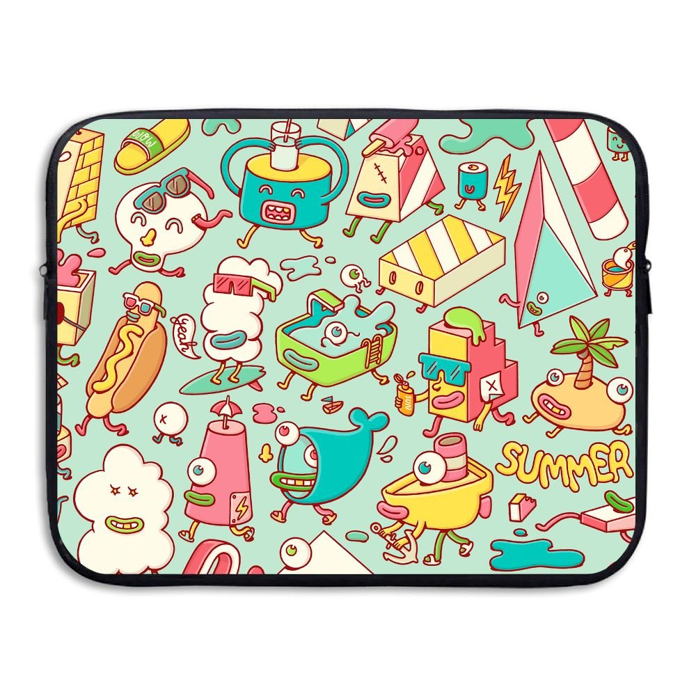 Fashion Laptop Storage Bag Happy Summer Elements Love Portable Waterproof Laptop Sleeve Bag Zipper Pocket Cover For Notebook PC