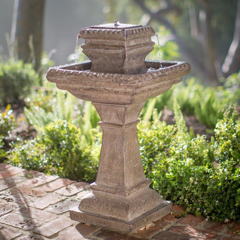 Riley Outdoor Tiered Solar Fountain