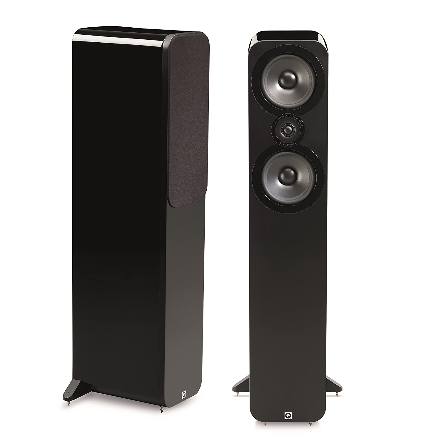 Q Acoustics 3050 - Altavoces (Speaker set unit, De 2 vías, Piso, 25W, 100W, 44-22000 Hz) Negro