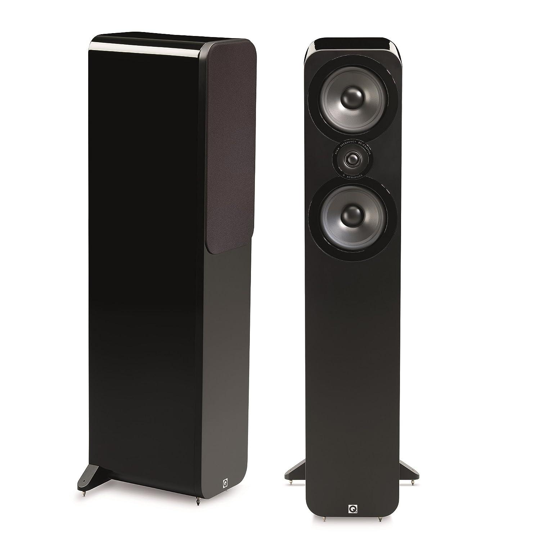 Q Acoustics 3050 - Altavoces (Speaker set unit, De 2 vías, Piso, 25W, 100W, 44-22000 Hz) Negro