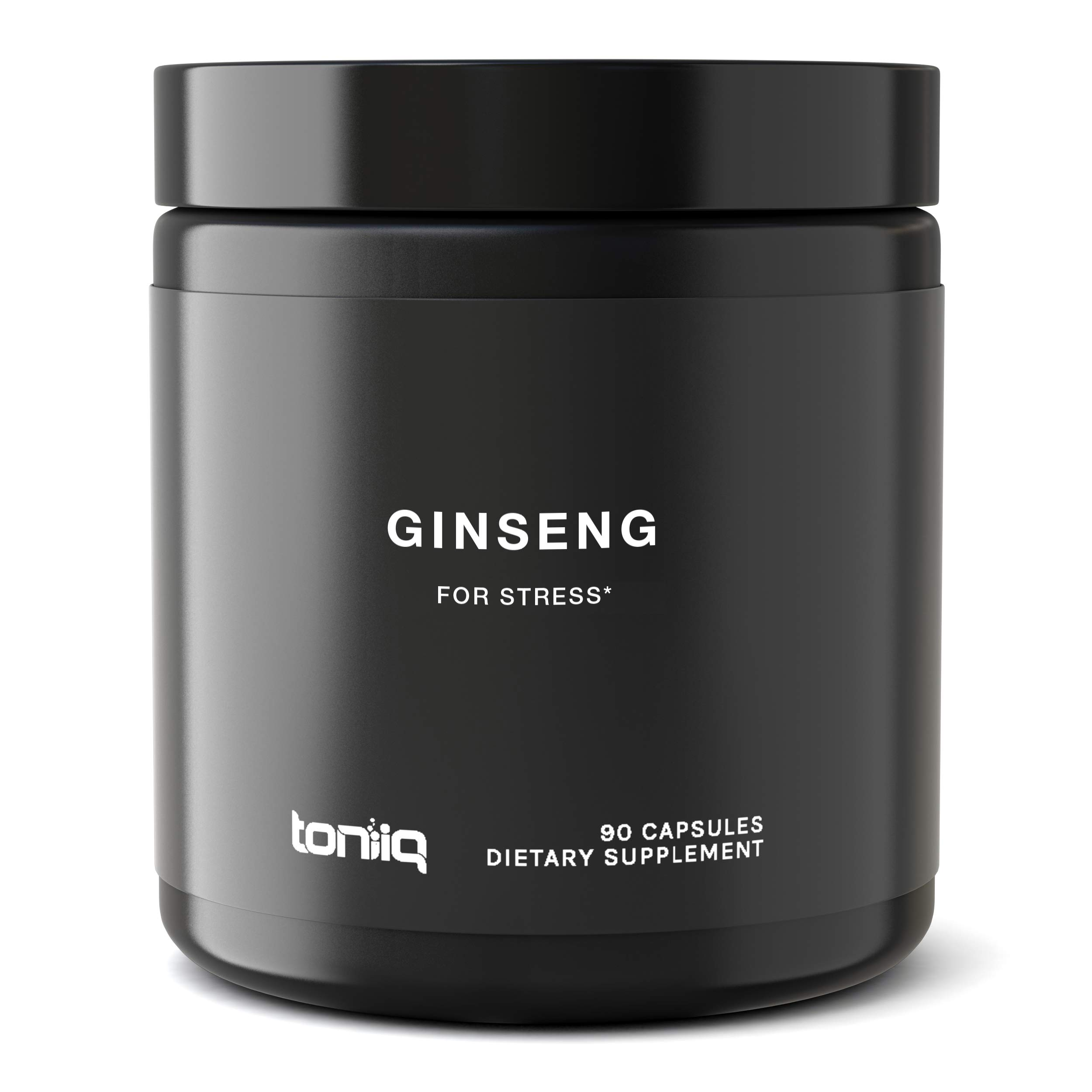 Ultra High Strength Panax Ginseng Capsules - 80% Ginsenosides - The Strongest Red Korean Ginseng Pills Available - 750 mg - Optimal Support for Enhanced Energy and Performance - 90 Veggie Caps by Toniiq (Image #1)