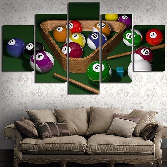 CXDM Moderno Lona 5 Paneles HD Print Mural Paisaje de Billar ...