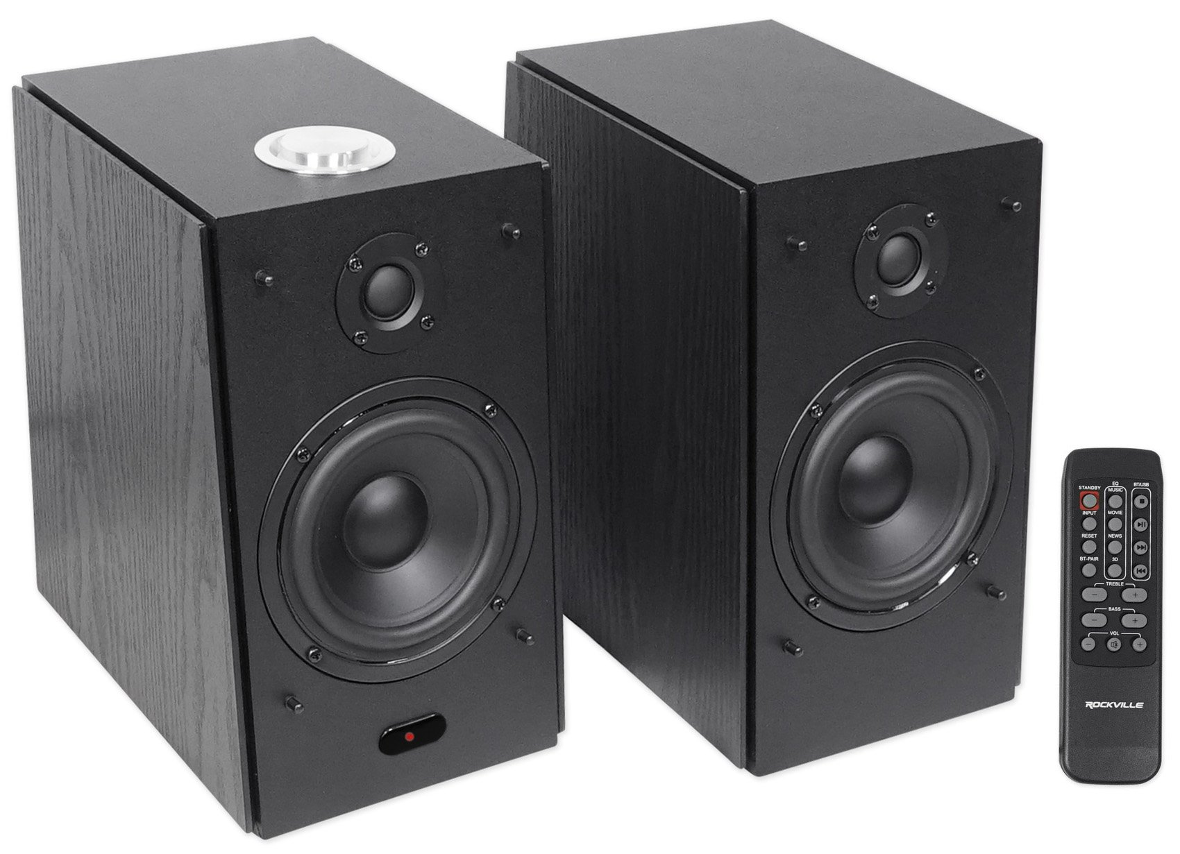 Rockville HD5B 5'' 150w Home Theater System w/Bluetooth/USB/AUX/Optical - Black