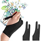 Mixoo Artists Gloves 2 Pack - Palm Rejection Gloves with Two Fingers for Paper Sketching, iPad, Graphics Drawing Tablet…