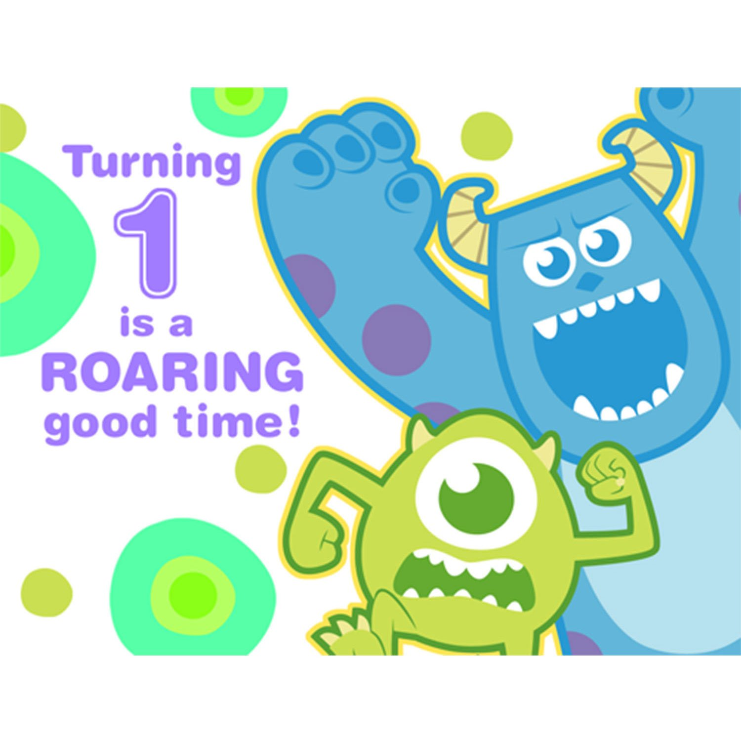 Disney Monsters Inc 1st Birthday Party Invitations 8 Pack Amazon In Toys Games