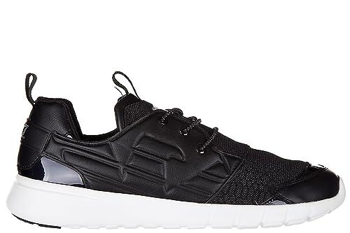 Emporio Armani EA7 Scarpe Sneakers Uomo Nuove Originale Simple Racer Light  Nero  Amazon.it  Scarpe e borse 1a33f05ee75