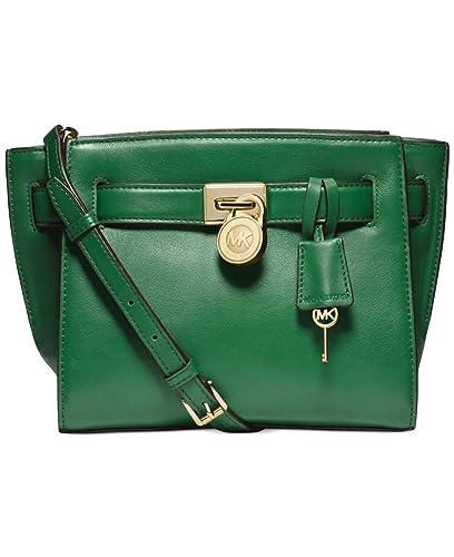 e04e20d77573 Amazon.com: MICHAEL Michael Kors Hamilton Traveler Messenger Bag in  Gooseberry Green: Shoes