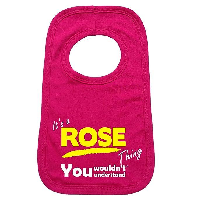 123t Baby es una rosa Thing You no entender bebé babero: Amazon.es: Ropa y accesorios