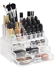 Cosmetic 4 Drawer Clear Acrylic Box Organizer Storage Jewellery Makeup Holder