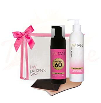 Lw Tan Ultimate Fast Bronzing Kit Gift Set Clear Bag Amazon Co Uk