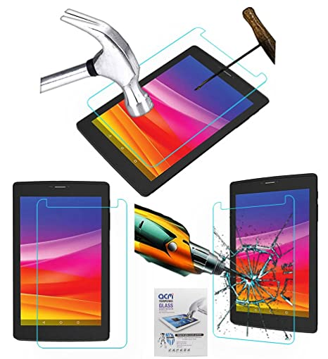 Acm Tempered Glass Screenguard Compatible with Micromax Canvas Tab P702 Tablet Screen Guard Scratch Protector Touch Screen Tablet Screen Protectors