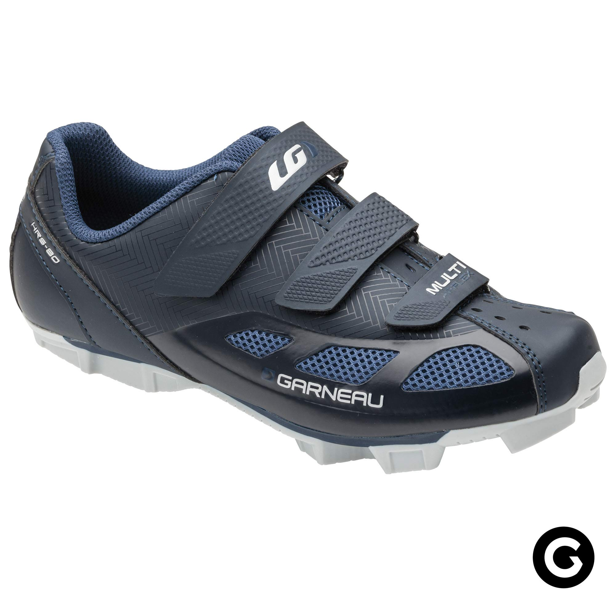 Louis Garneau - Women's Multi Air Flex Bike Shoes for Indoor Cycling, Commuting and MTB, SPD Cleats Compatible with MTB Pedals, Mat Black Navy, US (6.5), EU (37)