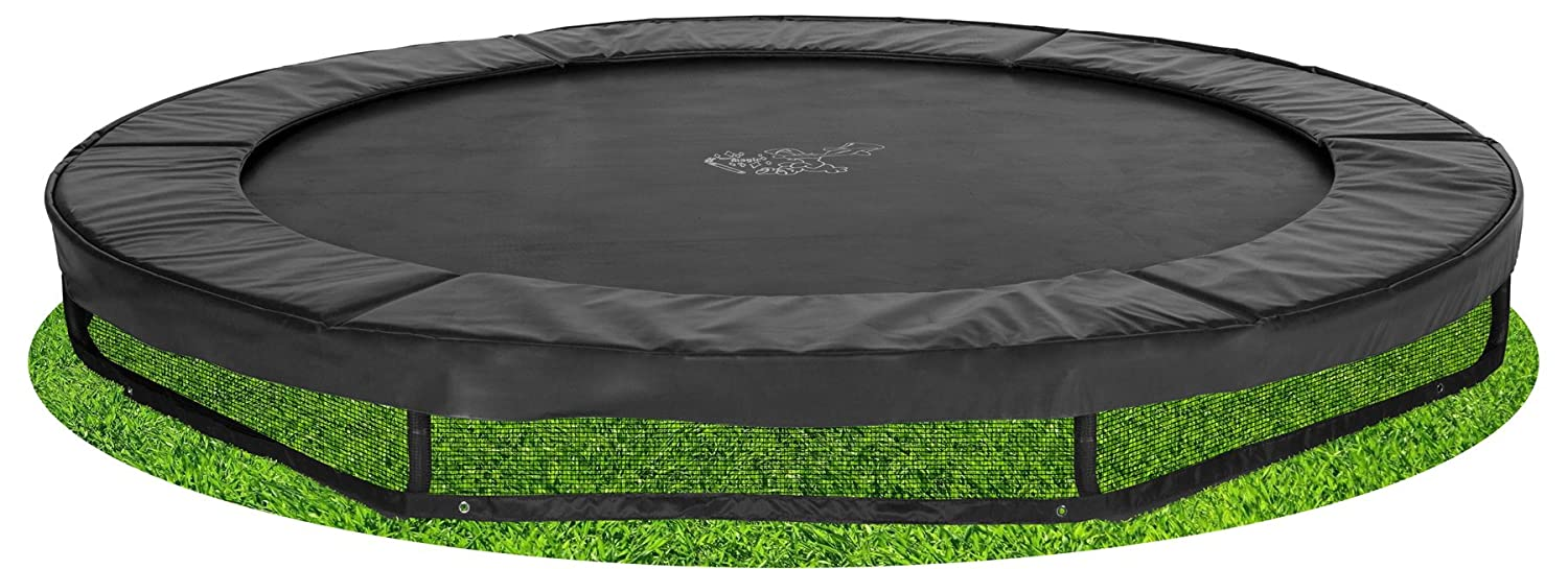Bodentrampolin Magic Circle Pro Black 366 cm Schwarz
