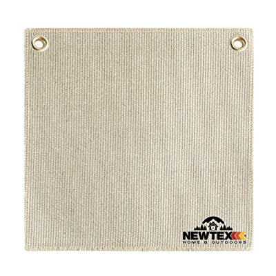 Newtex 12''x12'' ZetexPlus Brazing Spark Protection Pad, High Temperature Heat Resistant Protective Cloth Fiberglass Fabric, Flame Protector, Torch Shield, Plumbers Welding Blanket