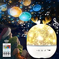 Star Projector Night Light for Kids,3-in-1 Multifunctional Children's Night Lights,Remote Control,Built-in 4 Lighting…