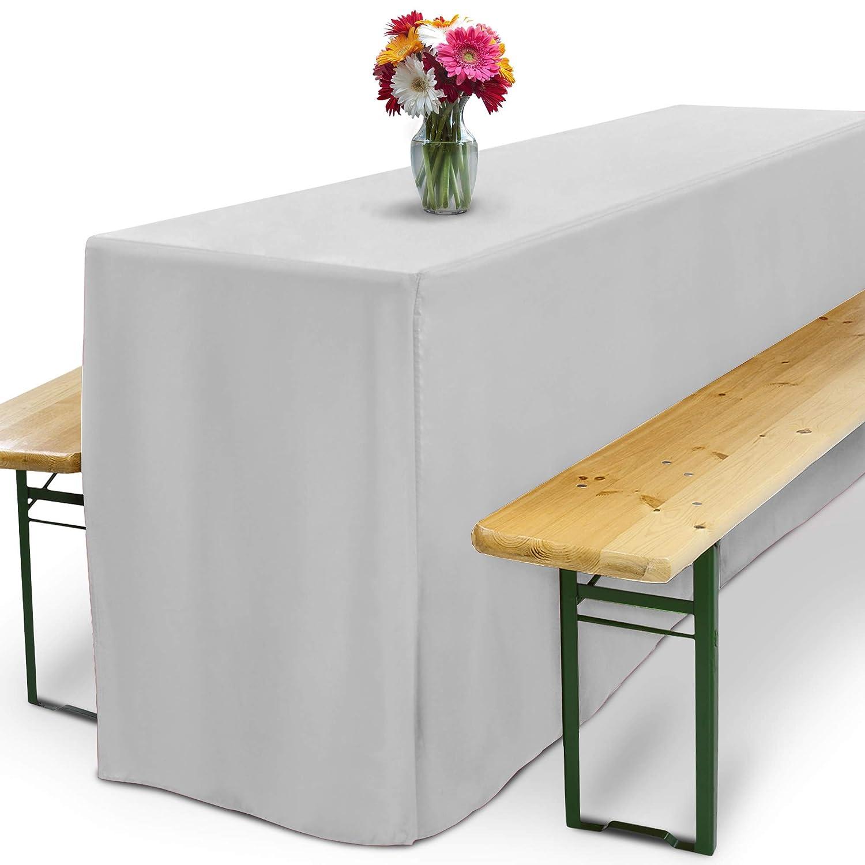 Beautissu Basic L Nappe Housse De Table 220x70cm Mariage Fête