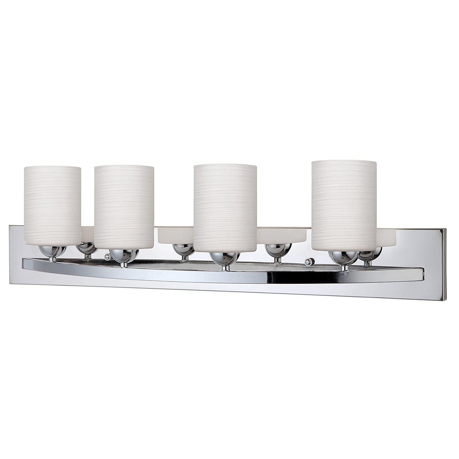 Ora Modern 4-Light Vanity – Chrome Finish