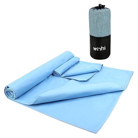 winhi 2 Pack microfibra Juego de toallas, XL/absorbente de secado rápido/Antibacteriano