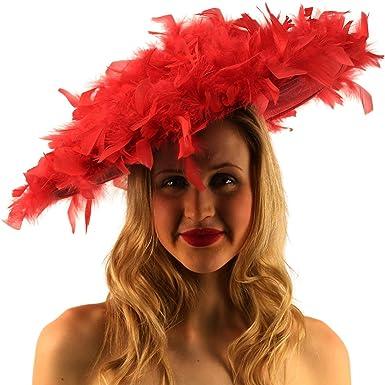 Outstanding Edwardian Flowing Feathers Big Fascinators Cocktail Derby Hat