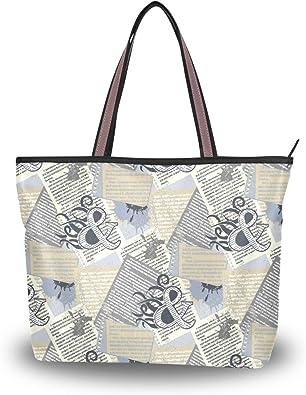 Women Casual Canvas Musical Note Tote Shopping Shoulder Bag Handbag Satchel GIFT