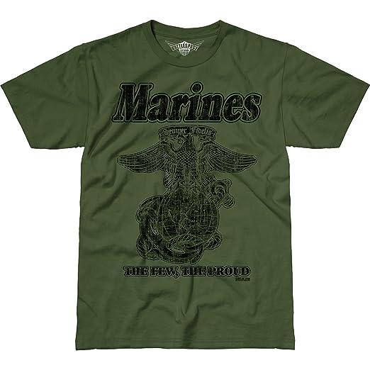 7.62 Design USMC  Retro  Men s Battlespace T-Shirt Military Green SM 0f036972c