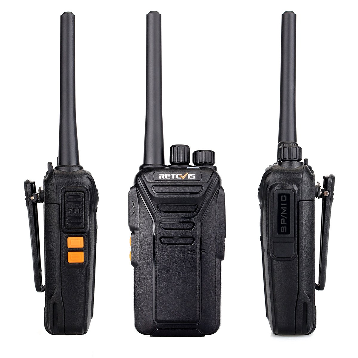 Retevis RT27V MURS Two Way Radio 5 Channel VHF DCS Encryption License-Free  Walkie Talkies with Covert Air Acoustic Earpiece(Black,10 Pack)