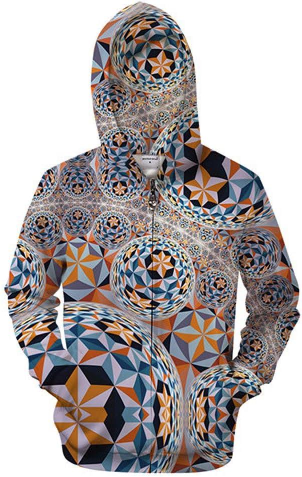 ZIP551 M WDDGPZWY Hoodie Kapuzenpul r Sweatshirt Ball 3D Pattern Hoodie Herren Zip Hoody Zipper Sweatshirt Großer Trainingsanzug Lustiger Hoodie Pul r Mantel Streetwear